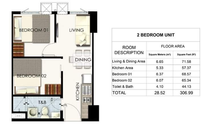 Charm Residences Cainta 2 bedroom