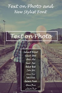 Stylish Text Over Photo - náhled
