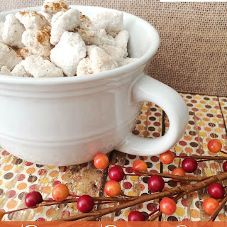 Cinnamon Caramel Apple Puppy Chow Snack Mix