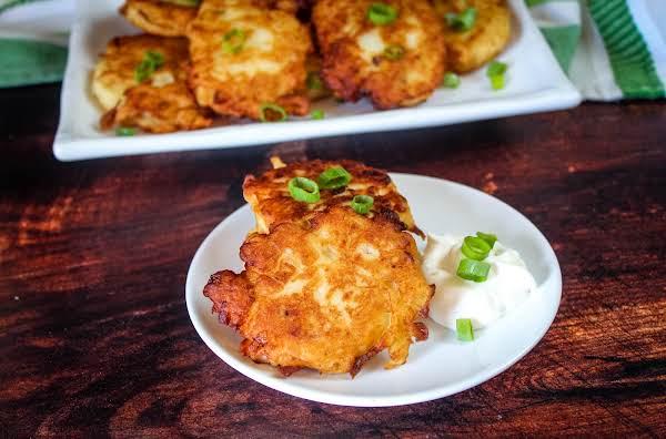 Irish Boxty (crispy Fried Potato Cakes) On A Plate.