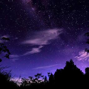 Bue milkyway by Heru  Nurjati - Landscapes Starscapes ( night stars milkyway morning dark beautiful )