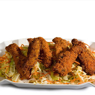 Buffalo Chicken Tenders with Blue Cheese Coleslaw