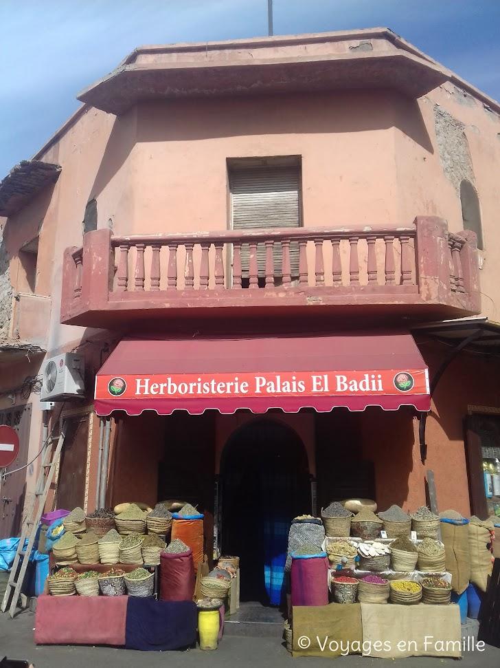 Marrakech - herboristerie