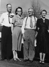 Photo: Euel and Zela Franks Balkcom, Barrett and Flora Franks c1955