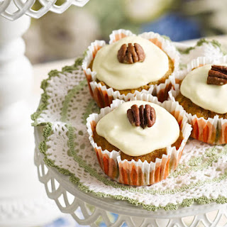 Carrot Cupcakes with Maple frosting