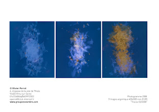 """Photo: © Olivier Perrot 2008 """"traces"""" Photogramme 400x500mm contact operrot@club-internet.fr"""