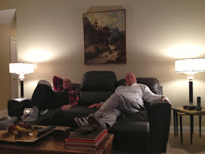 Photo: The double recliner was enjoyed by both my father and his best friend, my brother Marc.