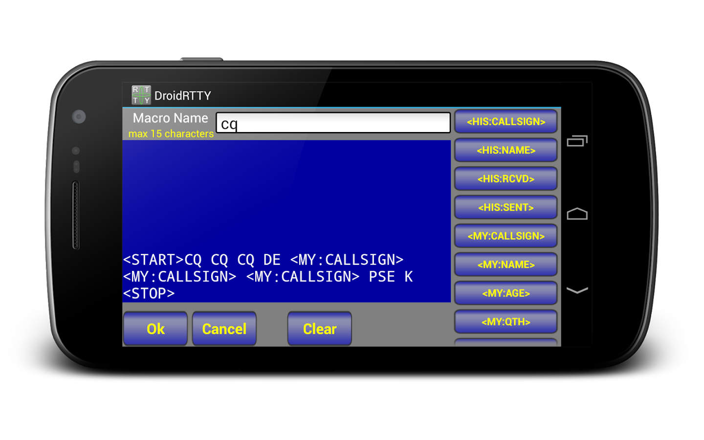 DroidRTTY for Ham Radio- screenshot