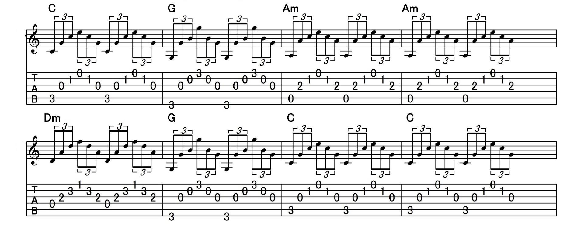 アルペジオの練習:パターン5
