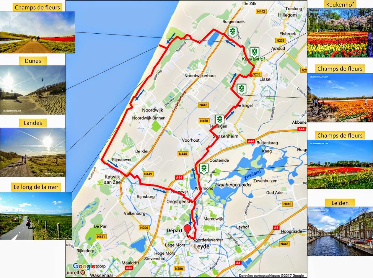 Tracé Balade à vélo du circuit entre Paris et Sceaux par veloiledefrance.com