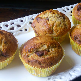Banana Bread Muffins with Chocolate Chips.