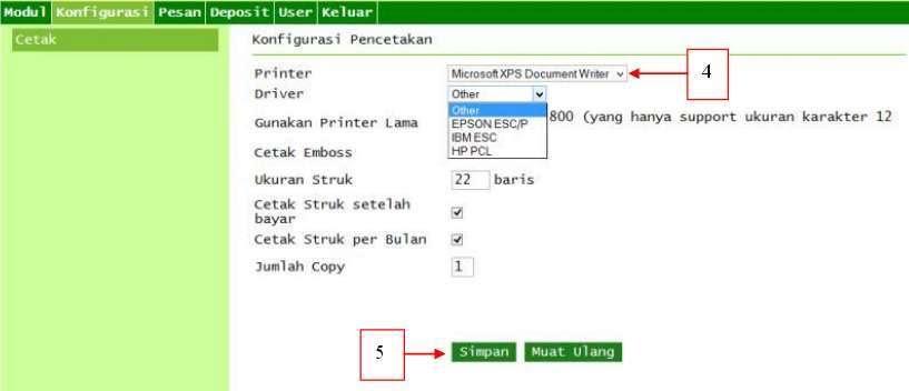 Setting printer ppob bukopin syariah