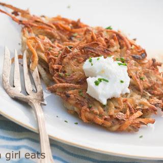Crispy Potato Latkes.