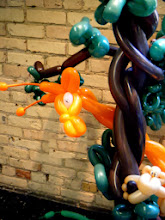 Photo: Close up of balloon giraffe for a birthday party at The Grand Rapids Childrens Museum.
