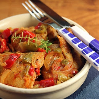 Basque Chicken With Bell Pepper And Tomato.