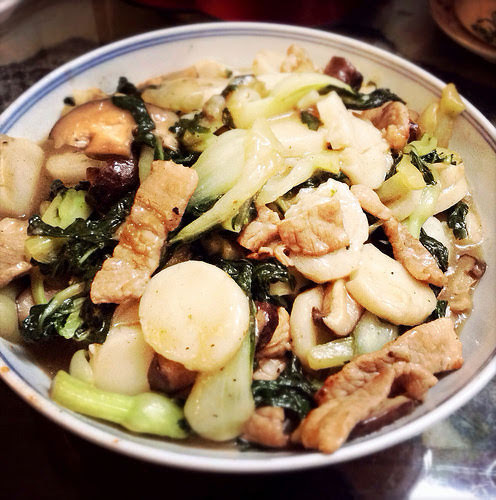 chinese new year, stir fried, nian gao, rice cakes, recipe