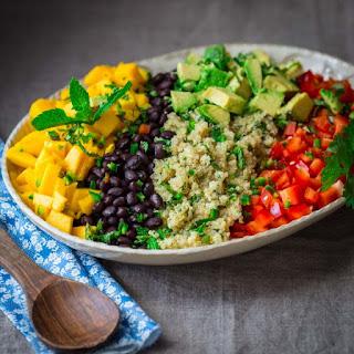 Black Bean Quinoa Salad With Mango And Avocado