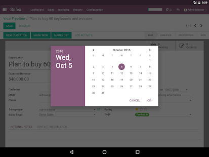 Odoo- screenshot thumbnail