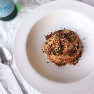 Slow Cooked Oxtail with Angel Hair Pasta.