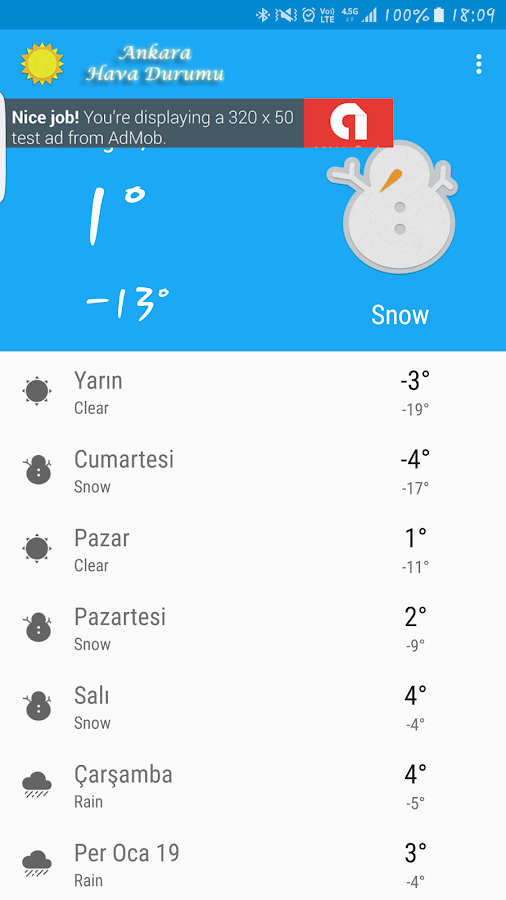 Ankara Hava Durumu- screenshot