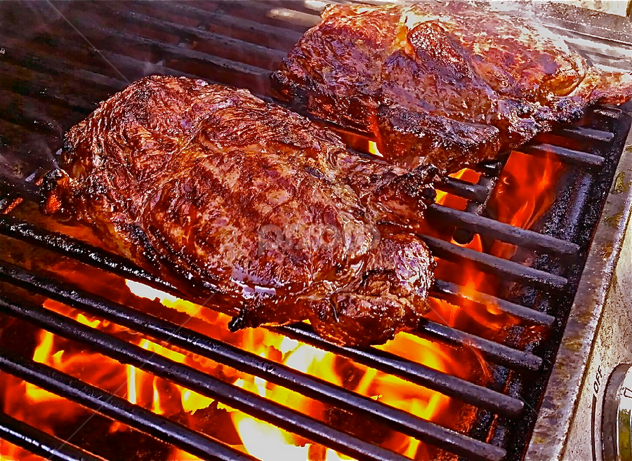{ Grilled Ribeye Steaks ~ Back yard Barb ~ B ~ Qs 2 July }  by Jeffrey Lee - Food & Drink Meats & Cheeses ( { grilled ribeye steaks ~ back yard barb ~ b ~ qs 2 july },  )