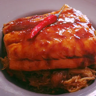 Salmon with Thai Chili Lime Noodles.