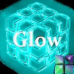Next Launcher Theme Glow Cyan Icon
