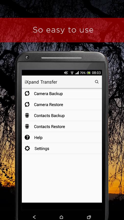 Скриншот SanDisk iXpand™ Transfer