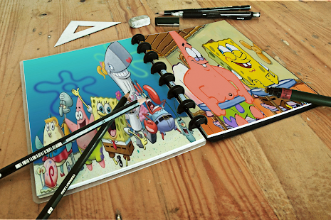 Coloring book spongbobe - náhled