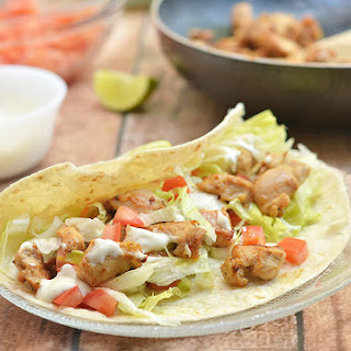 Chicken Soft Tacos with Secret Sauce.