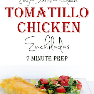 Tomatillo Chicken Enchilada