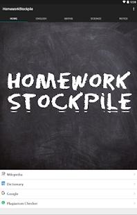 HomeworkStockpile - náhled