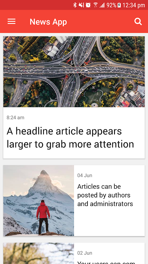 Ultimate News App Template- screenshot