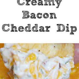 Creamy Cheddar Bacon Dip.