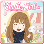 Smile Girl Live Wallpaper Icon