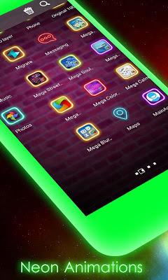Street Neon MegaLauncher Theme - screenshot