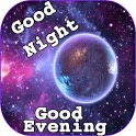 Good Night evening Messages image GIF and greeting icon