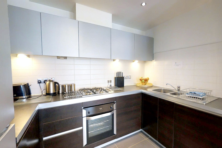Fully equipped kitchen at Pepys Court