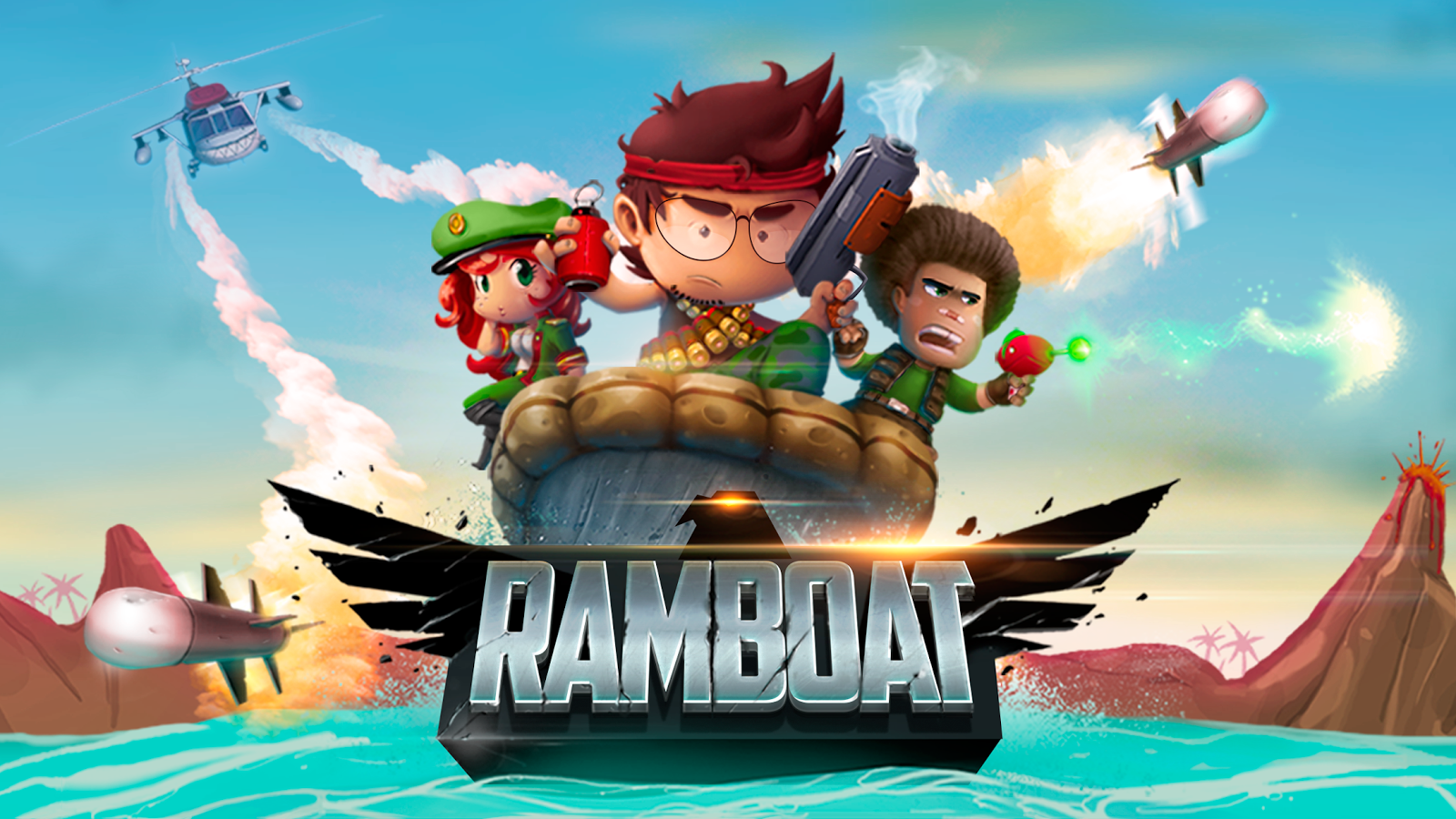 Ramboat - Jumping Shooter Game- screenshot