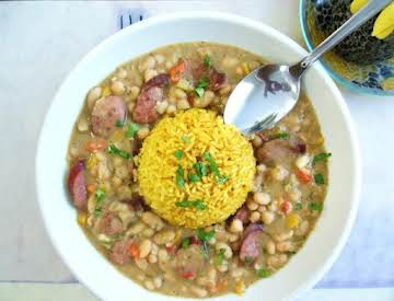 """NAWLINS"" White Beans & Yellow Rice"