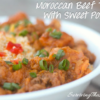 Moroccan Tagine Recipe With Beef & Sweet Potatoes