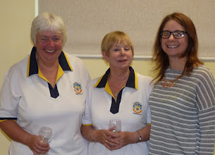 Photo: Ladies Pairs Runner Up- Chris Bruce and Eunice Hargreaves