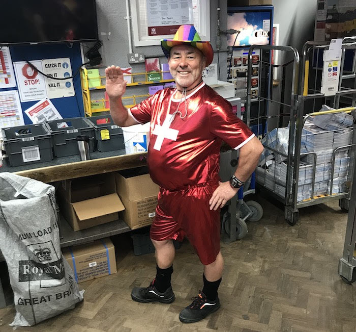 Posties dress up again - this time for the food bank