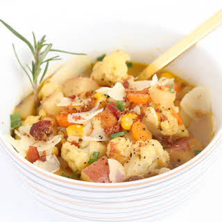 Cook It - Cauliflower, Potato, and Corn Soup.
