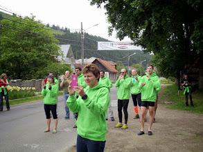 Photo: Cheering the runners...