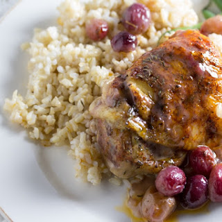 Chicken Thighs with Grapes, Thyme and Smoked Paprika.