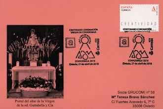Photo: Tarjeta del matasellos del Centenario de la Coronación de la Virgen de Covadonga