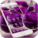 Water Drop Rose Purple Theme icon