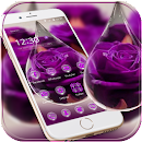 Water Drop Rose Purple Theme v 1.1.3 app icon