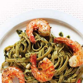 Pesto Pasta with Jumbo Prawns